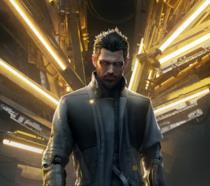 Adam Jensen in primo piano in un artwork ufficiale di Deus Ex: Mankind Divided