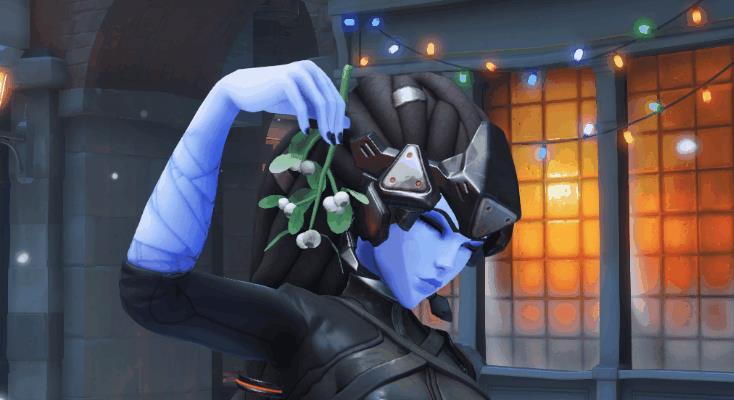 Una GIF natalizia di Widowmaker