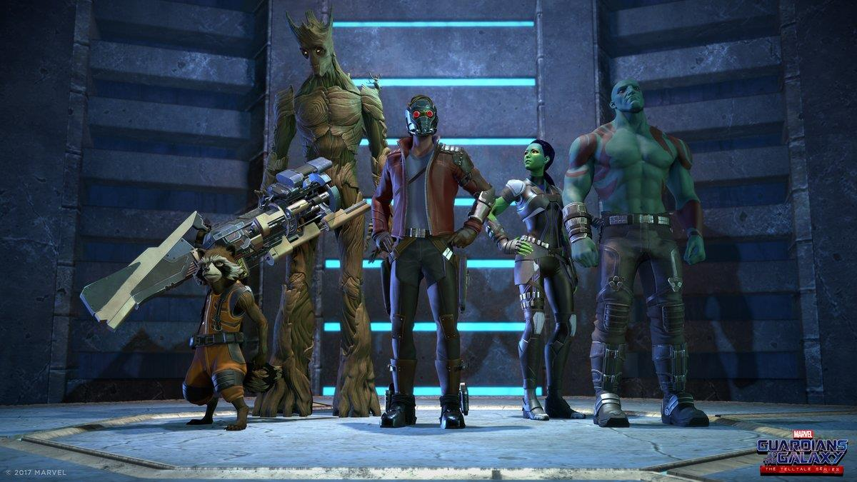 I Guardiani della Galassia nel gioco Telltale