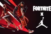 Banner promozionale del crossover Fortnite X Jordan