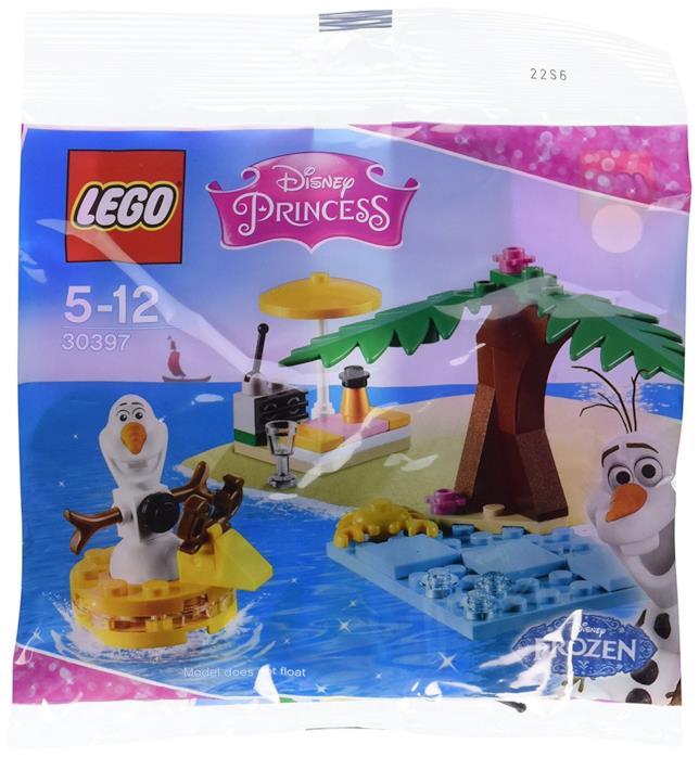 Dettagli della confezione del set LEGO Il divertimento estivo di Olaf