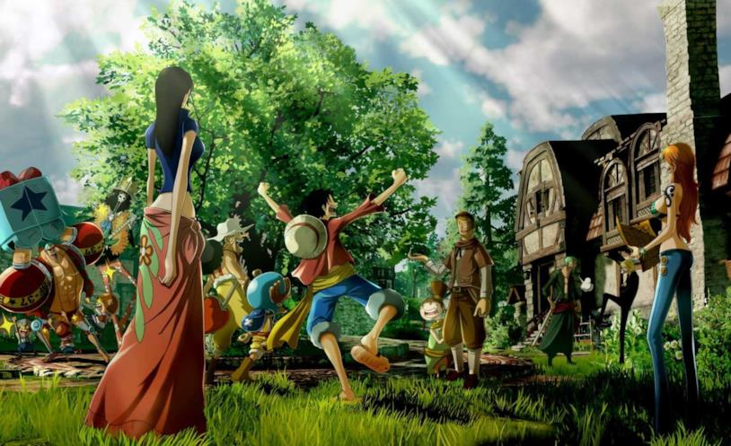 One Piece World Seeker Rufy e personaggi