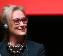 Meryl Streep durante un evento pubblico