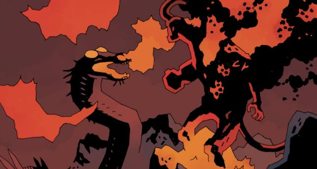 Hellboy all'inferno alla fine del suo viaggio