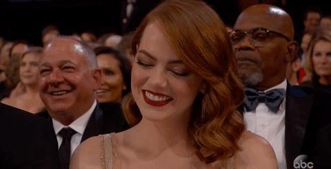 Emma Stone sorridente agli Oscar 2017