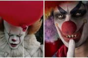 Un collage tra Pennywise e un clown