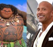 Maui e il suo doppiatore, Dwayne Johnson