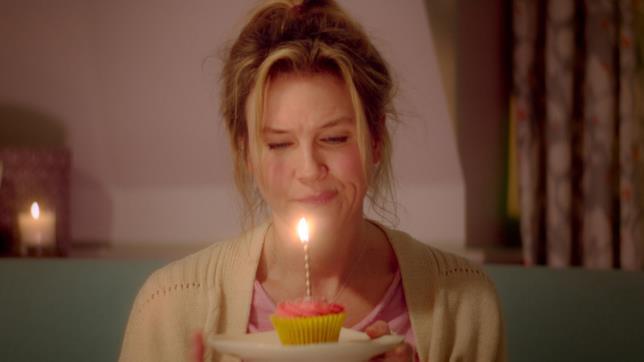 Renée Zellweger è Bridget Jones che festeggia il suo compleanno