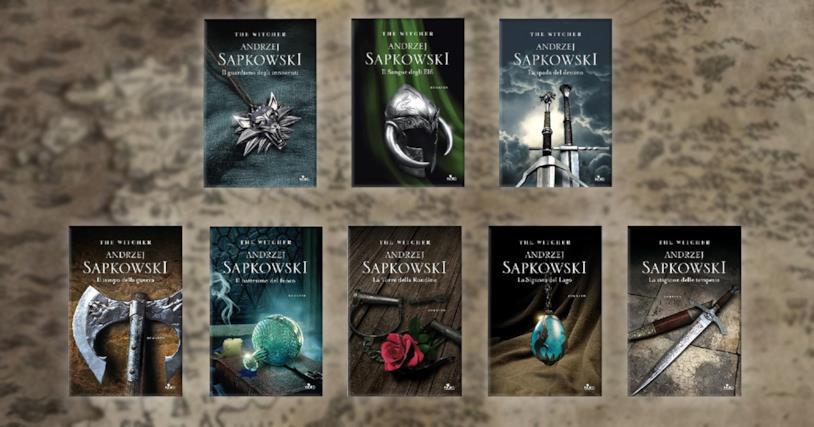 Le copertine delle nuove edizioni di The Witcher
