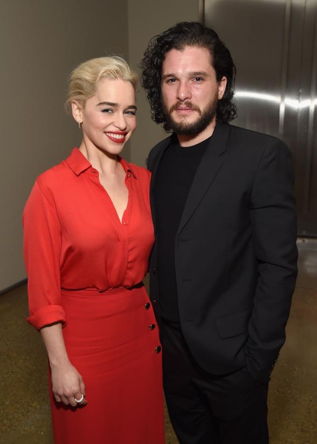 Emilia Clarke e Kit Harington al Sean Penn & Friends