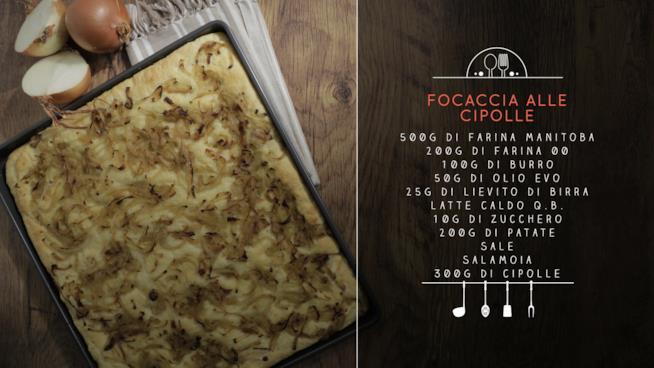 La ricetta della focaccia alle cipolle