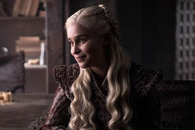 Emilia Clarke in Game of Thrones 8