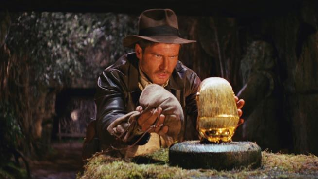 Una scena tratta dal film I predatori dell'arca perduta