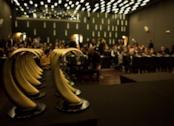 Le statuette del Premio Drago D'oro