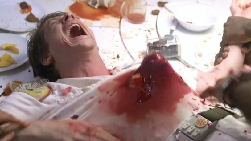 Una scena del film Alien