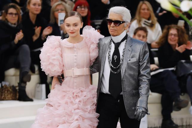 Lily-Rose Depp e Karl Lagerfeld