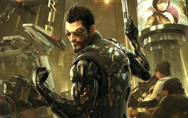 Adam Jensen posa in un artwork ufficiale di Deus Ex: Mankind Divided