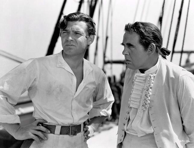 Clarke Gable e Charles Laughton