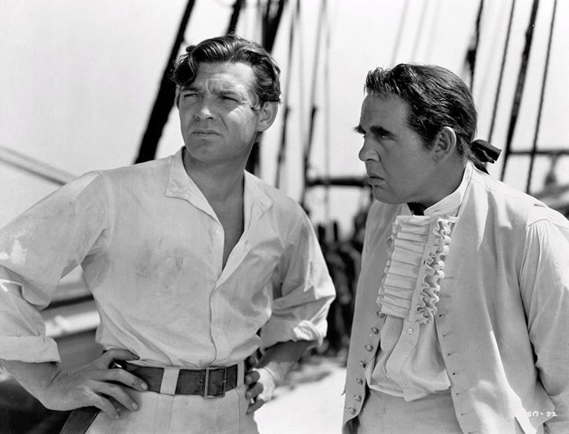 Clarke Gable e Charles Laughton