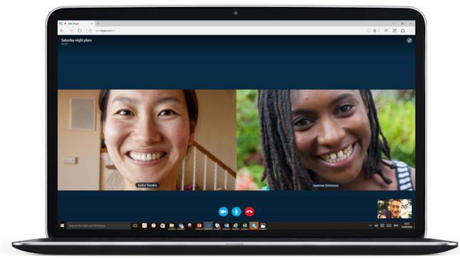 Skype collega persone lontane che possono vedersi in cam