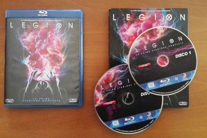 Il packaging e il contenuto dell'edizione Blu-ray di Legion - Stagione 1
