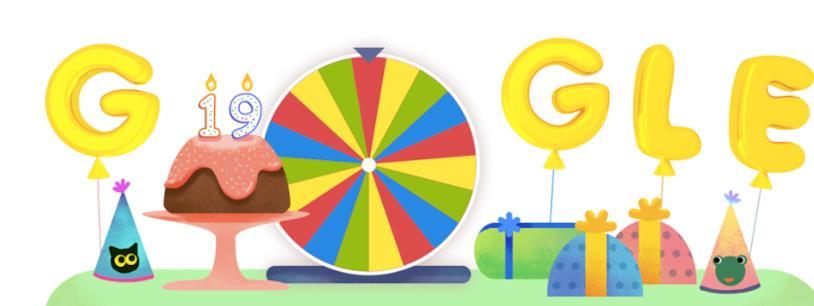 Il Doodle per il compleanno di Google