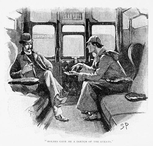 Sherlock Holmes e John Watson in una raffigurazione dei primi del novecento