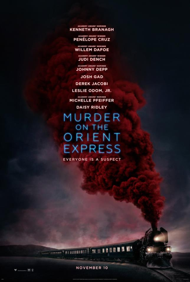 Il poster ufficiale di Assassinio sull'Orient Express