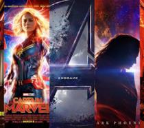 I poster di Shazam!, Captain Marvel, Avengers: Endgame, Dark Phoenix, Hellboy