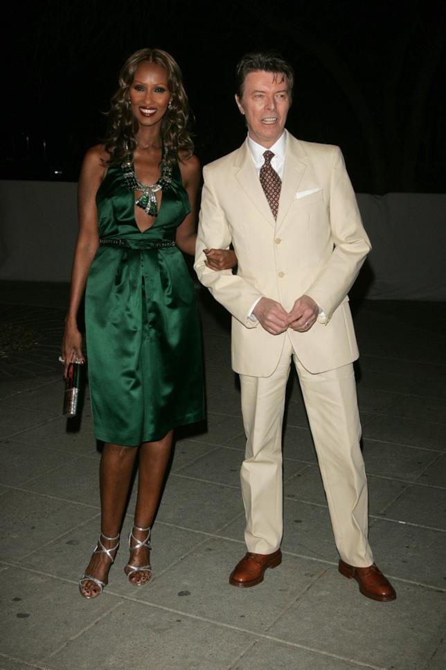 Iman e David Bowie nel 2007