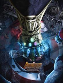 Il Guanto dell'Infinito nel primo poster di Avengers: Infinity war