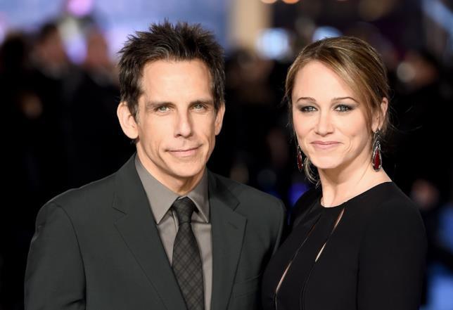 Primo piano di Ben Stiller e sua moglie Christine Taylor