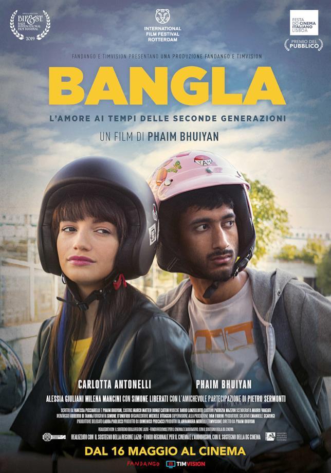 Il poster del film Bangla con i protagonisti Phaim e Asia