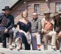 Foto di gruppo sul set di C'era una volta il West