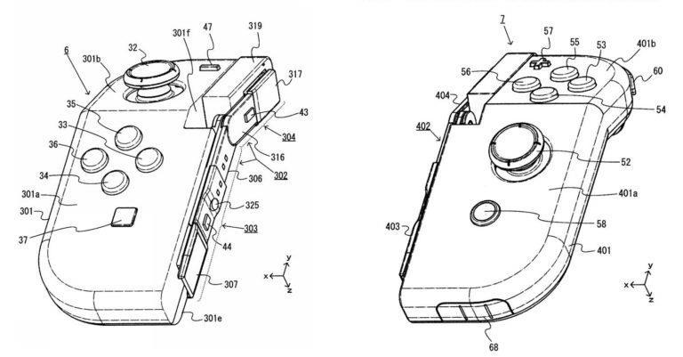I Joy-Con pieghevoli secondo un brevetto di Nintendo