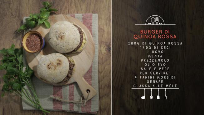 La ricetta dei burger di quinoa rossa