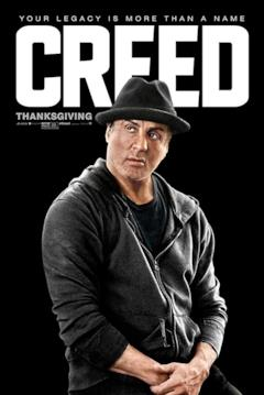 Rocky nel poster del film Creed