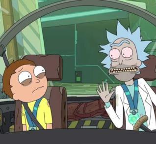 I protagonisti della serie d'animazione Rick e Morty