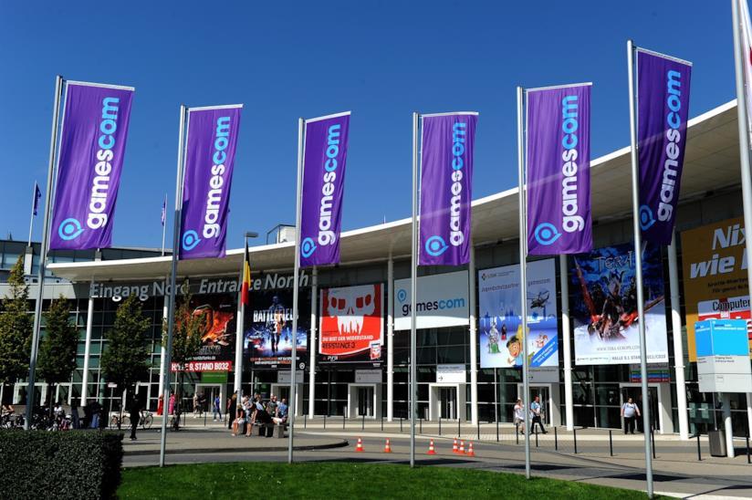L'ingresso della Gamescom alla Koelnmesse di Colonia