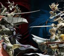 Alcuni degli eroi giocabili di Dissidia Final Fantasy NT