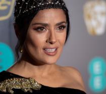 Un primo piano dell'attrice Salma Hayek