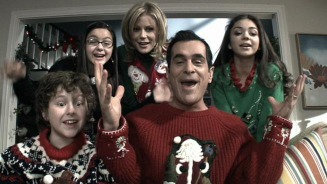 La famigli Dunphy festeggia il Natale