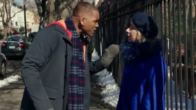 Will Smith e Helen Mirren in Collateral Beauty