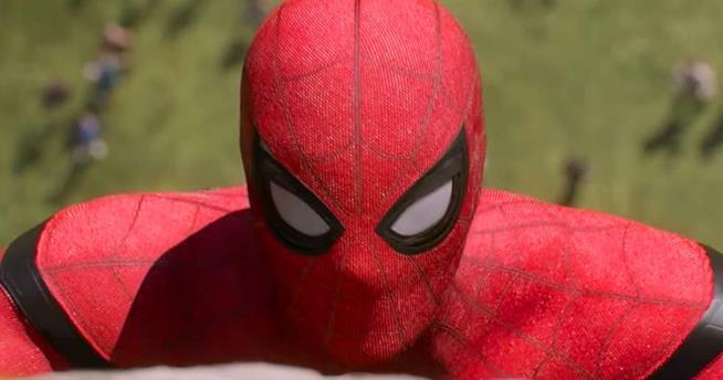 Un primo piano di Spider-Man