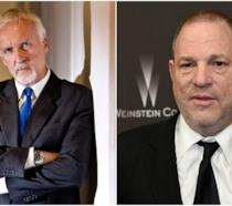 James Cameron e Harvey Weinstein
