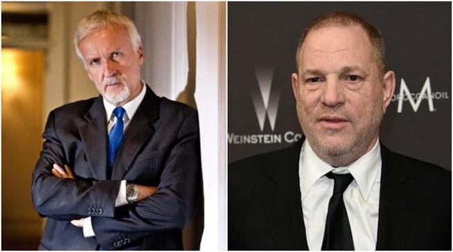 James Cameron e Harvey Weinstein