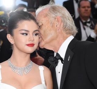 Bill Murray e Selena Gomez sul red carpet del Festival di Cannes
