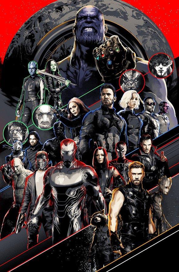 I team up degli eroi di Avengers: Infinity War