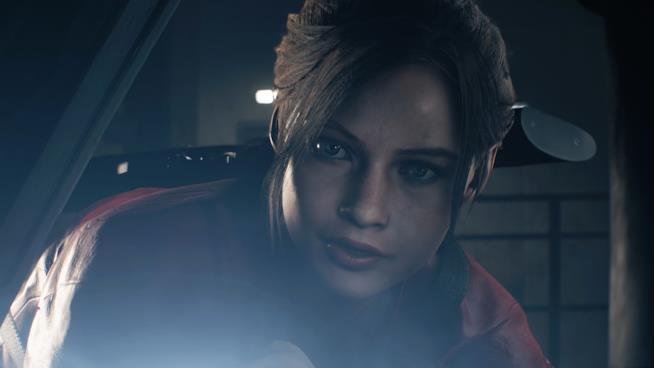 Un primo piano di Claire Redfield in RE2 Remake