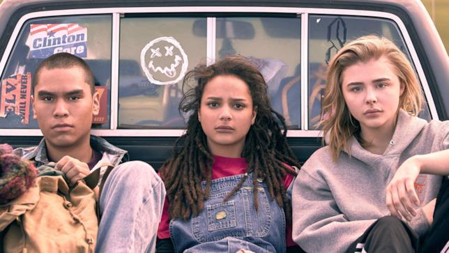 Da sinistra: Forrest Goodluck, Sasha Lane e Chloë Grace Moretz